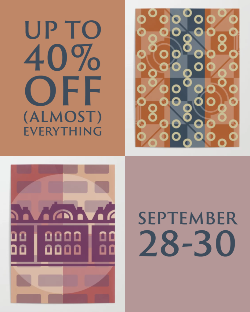 Up to 40% off (almost) everything, September 28-30