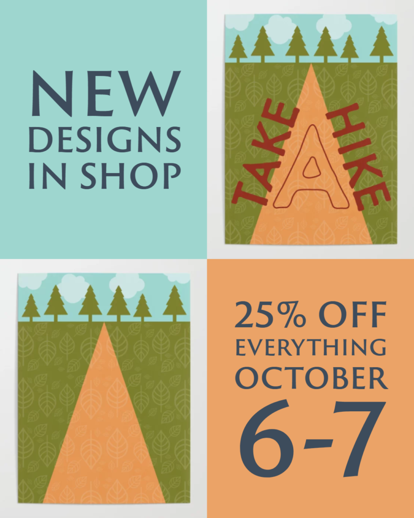 25% off everything, October 6-7