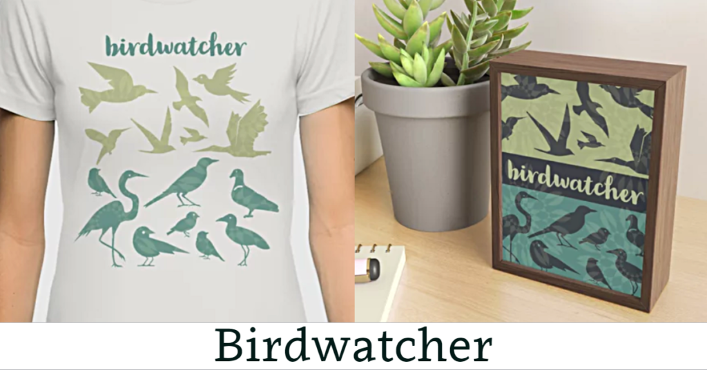 Birdwatcher Tee Shirt & Framed Mini Art Print