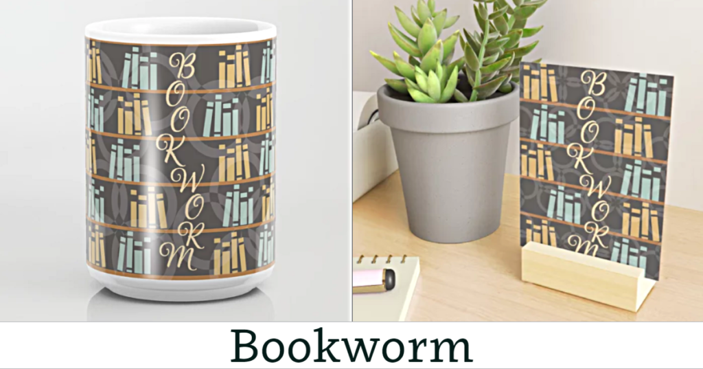 Bookworm Mug & Mini Art Print
