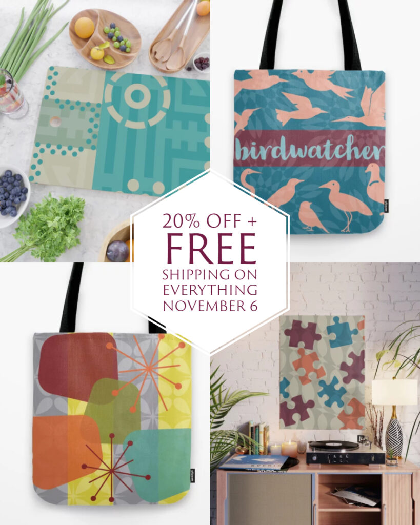 Get 20% off + free shipping on everything on November 6.