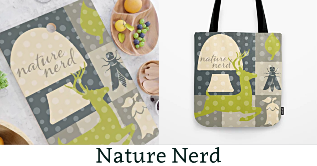 Nature Nerd Cutting Board & Tote Bag