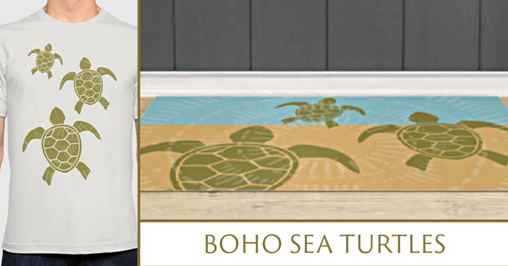 Boho Sea Turtles