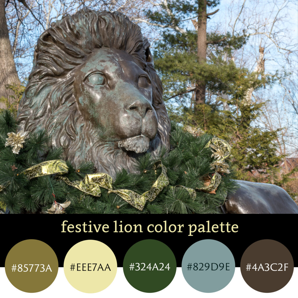 Festive lion color palette