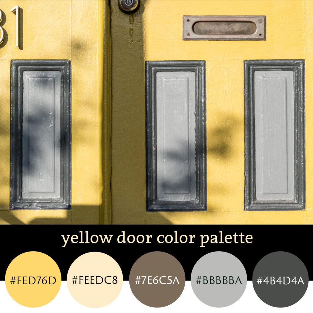 Yellow Door Color Palette