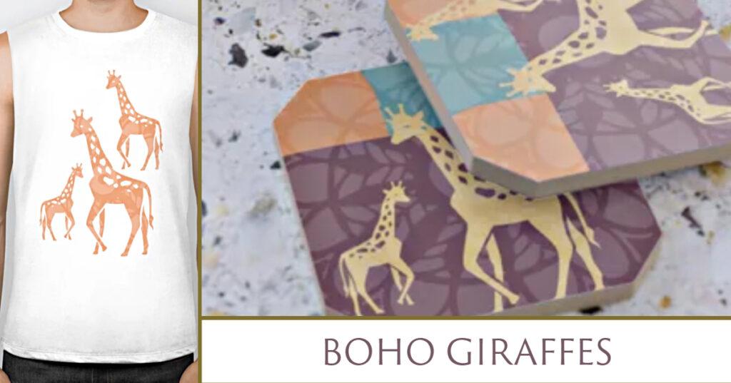 Boho Giraffes