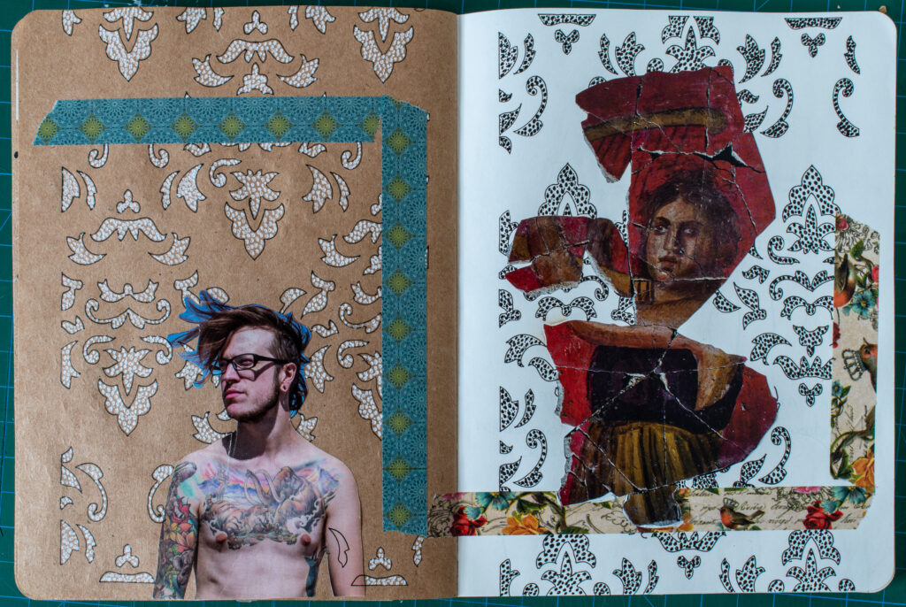 Faces Art Journal Spread