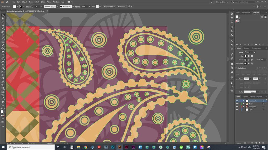 Screen Shot of Bohemian Pattern Design