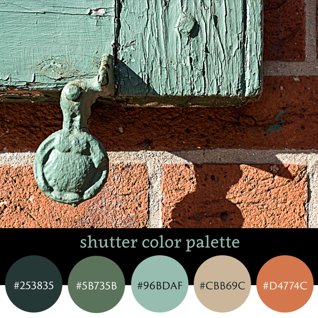 Green Shutter Color Palette