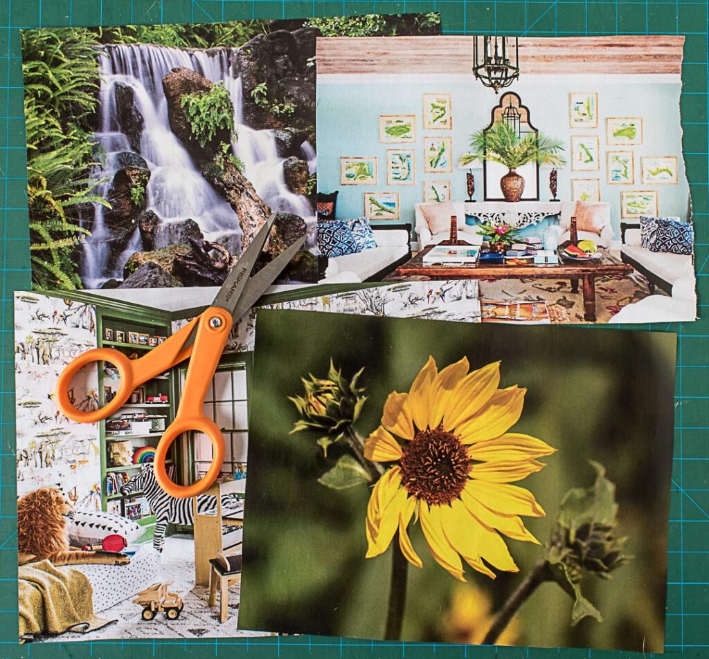 Choosing photos from magazines
