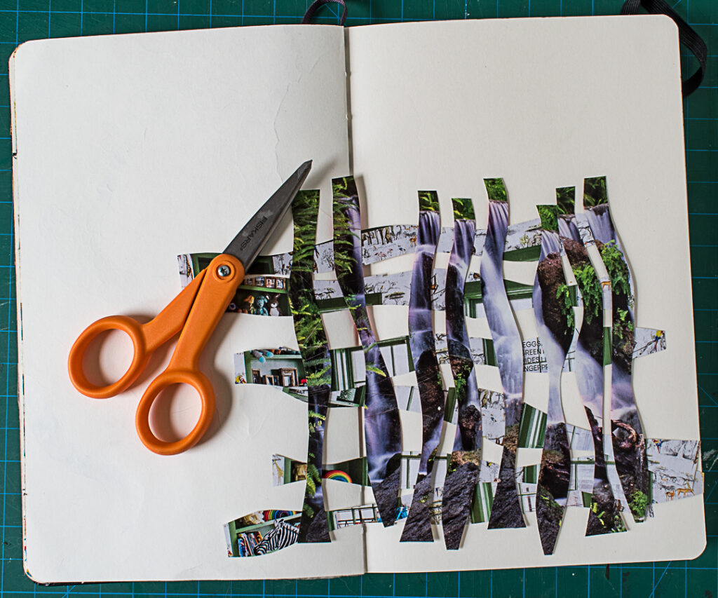 Cutting photos into strips