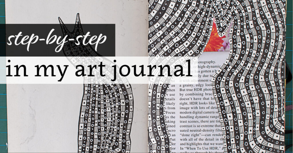 Step-by-Step in my Art Journal: Penguin Spread