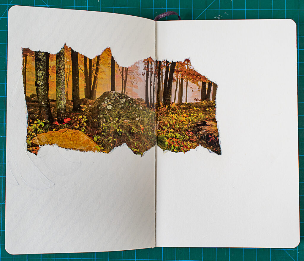 Photo & Doodles Art Journal Spread: Step 1