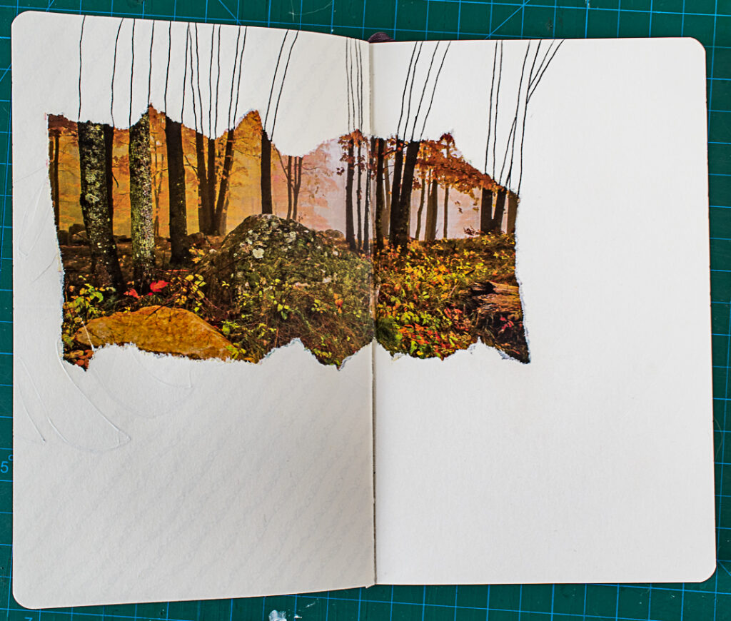 Photo & Doodles Art Journal Spread: Step 2