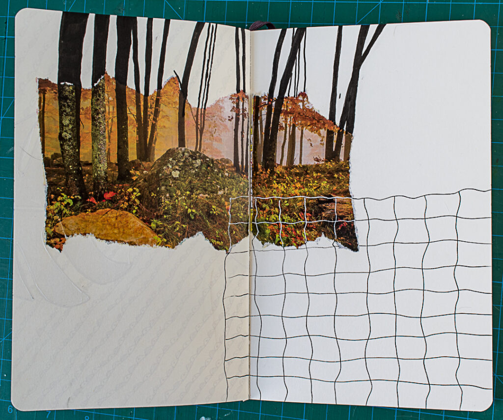 Photo & Doodles Art Journal Spread: Step 4