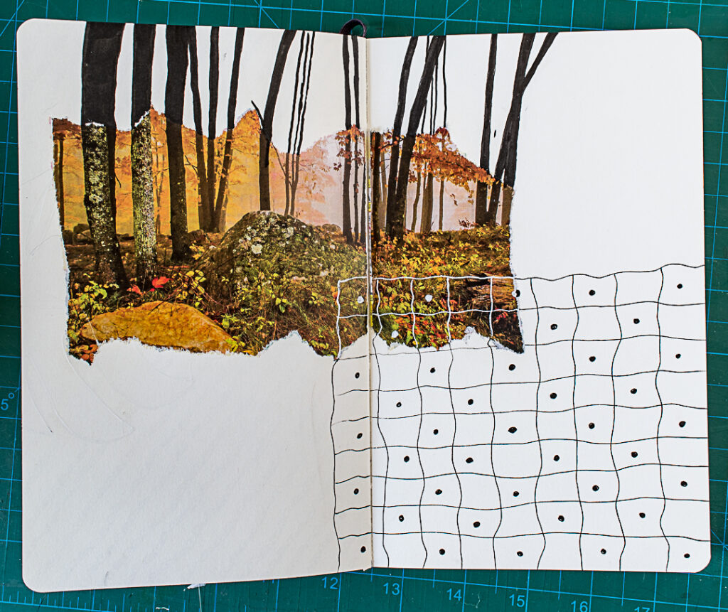Photo & Doodles Art Journal Spread: Step 5