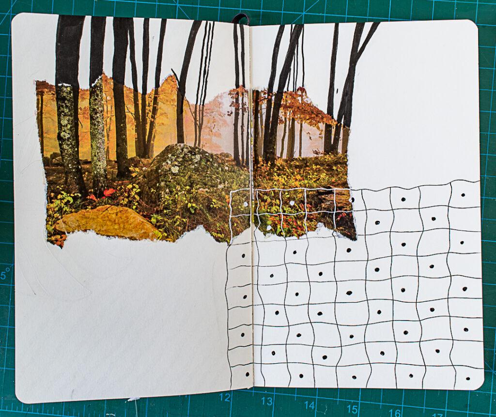 Photo & Doodles Art Journal Spread: Step 5