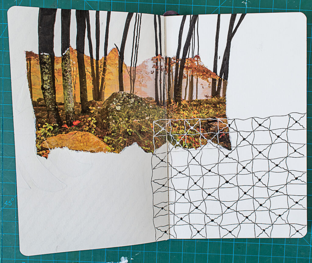 Photo & Doodles Art Journal Spread: Step 6