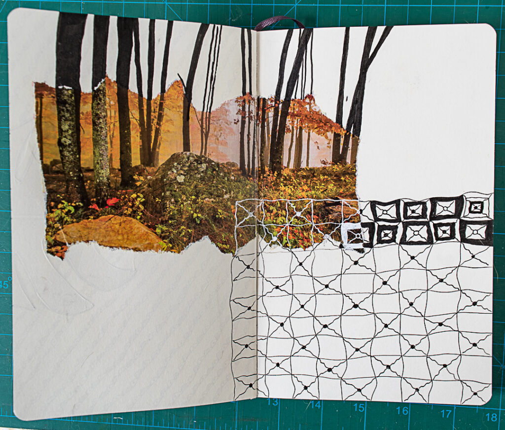 Photo & Doodles Art Journal Spread: Step 7