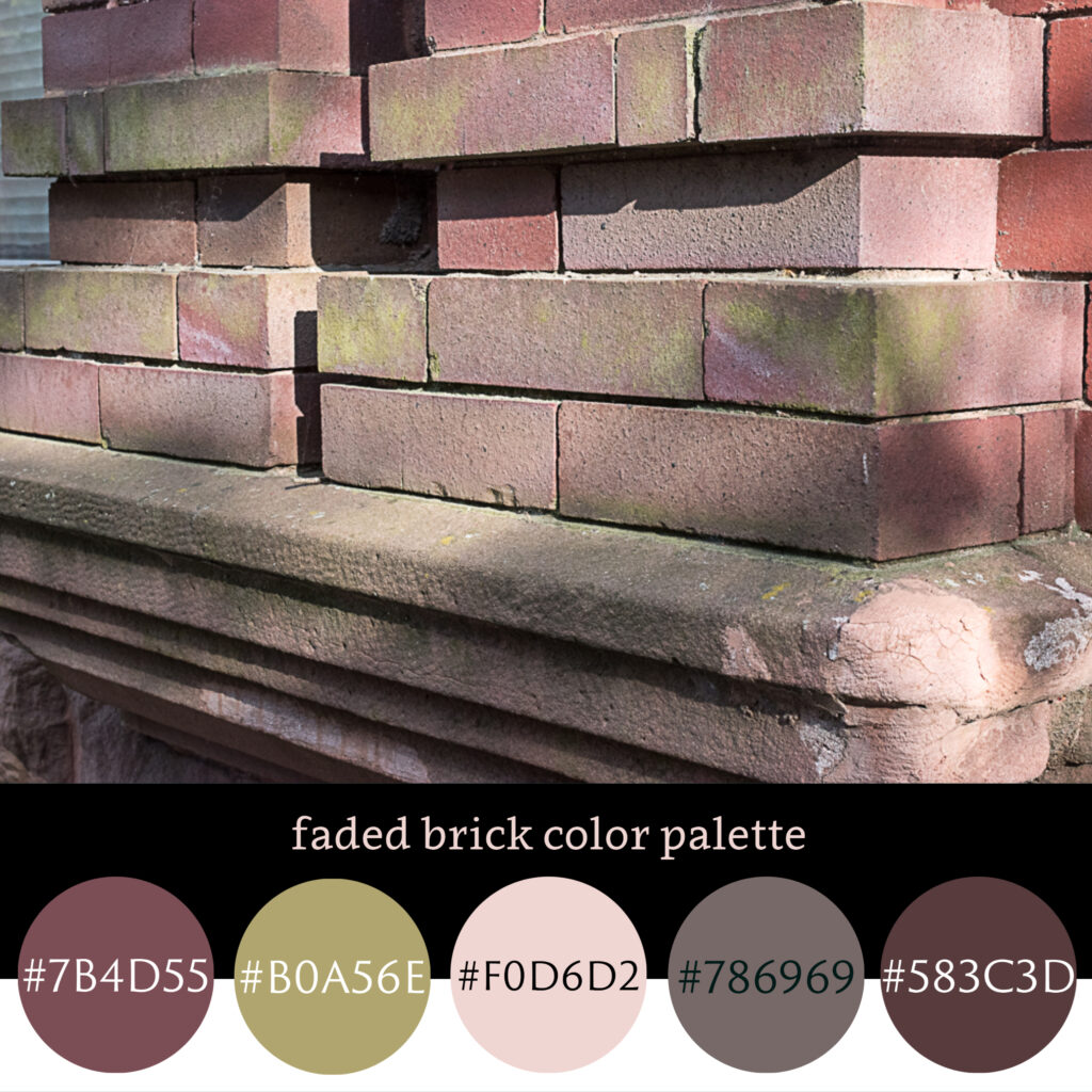 Faded Brick Color Palette