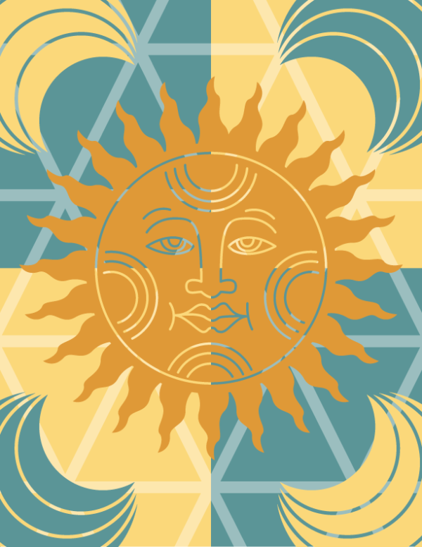 June Free Graphic: Summer Sun