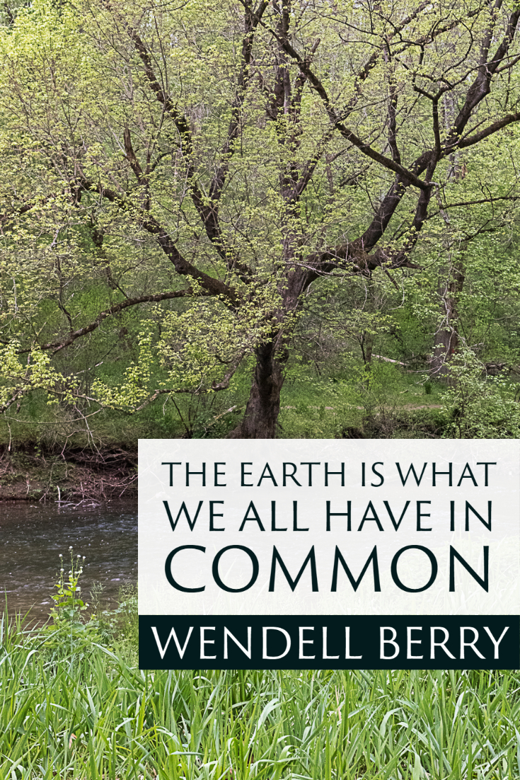 """The Earth is what we all have in common."" ~Wendell Berry"