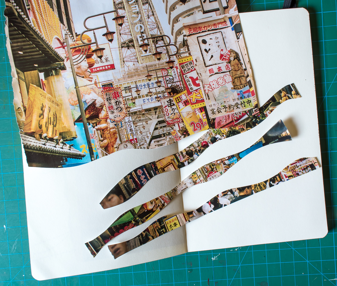 Finding a photo and cutting it into strips