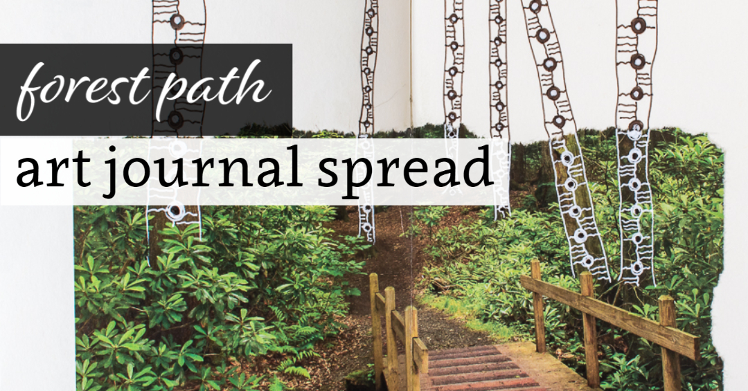 Forest Path Journal Spread