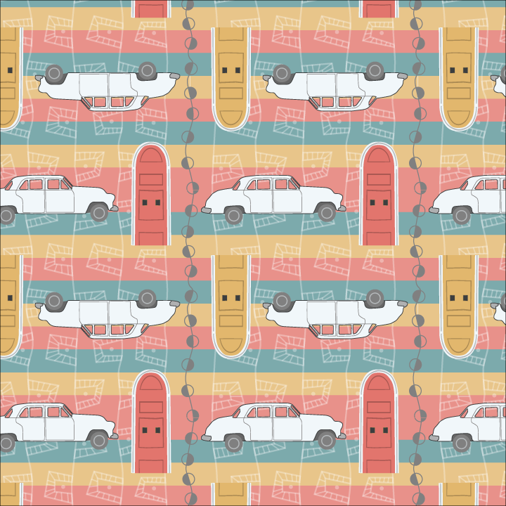 Road Trip collection hero pattern.