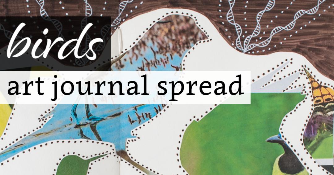 Birds Art Journal Spread