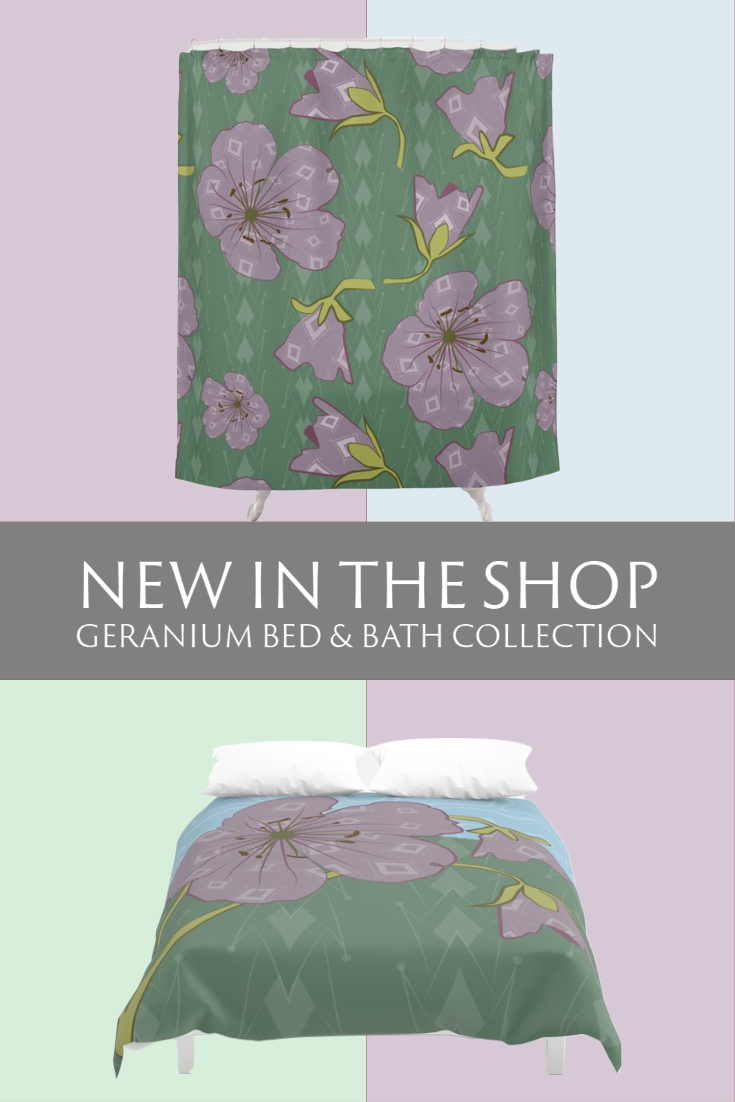 New in the Shop: Geranium Bed & Bath Collection