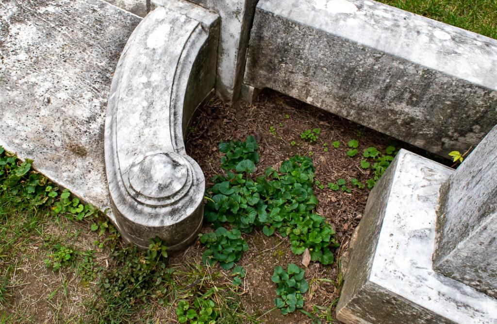 Cemetery plot border