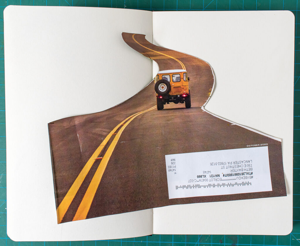 Cut out road photo