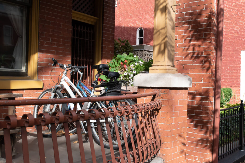 Bicycles on a porch