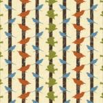 Colorful Birds Stripe Pattern