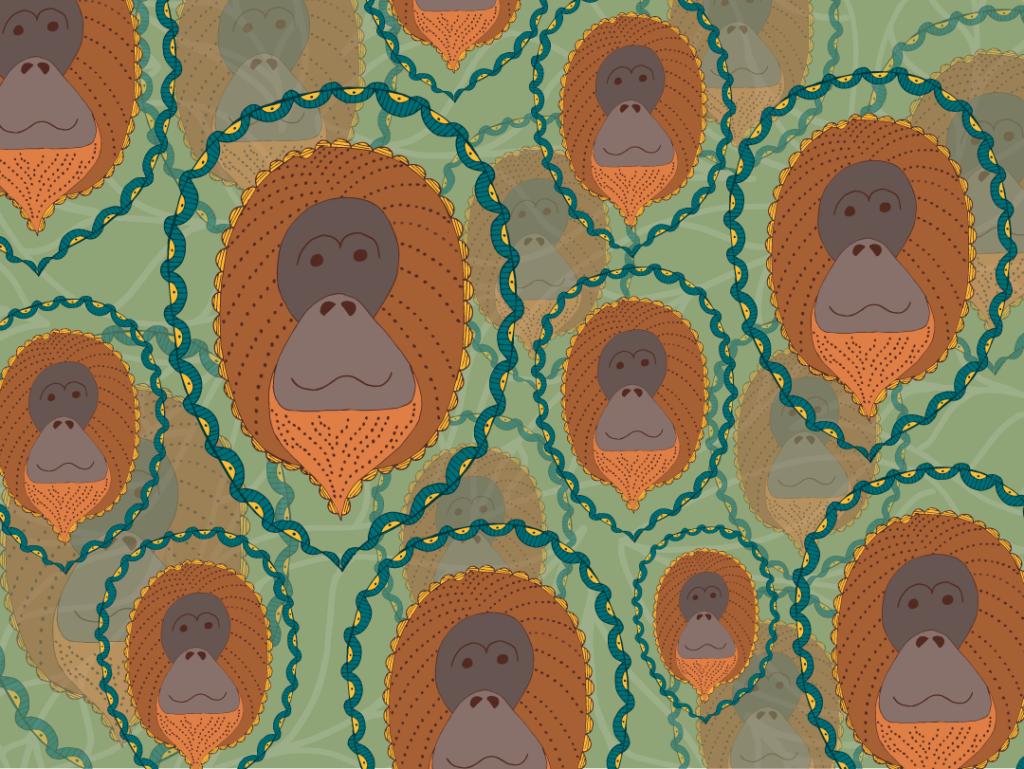 Final Boho Orangutan pattern.