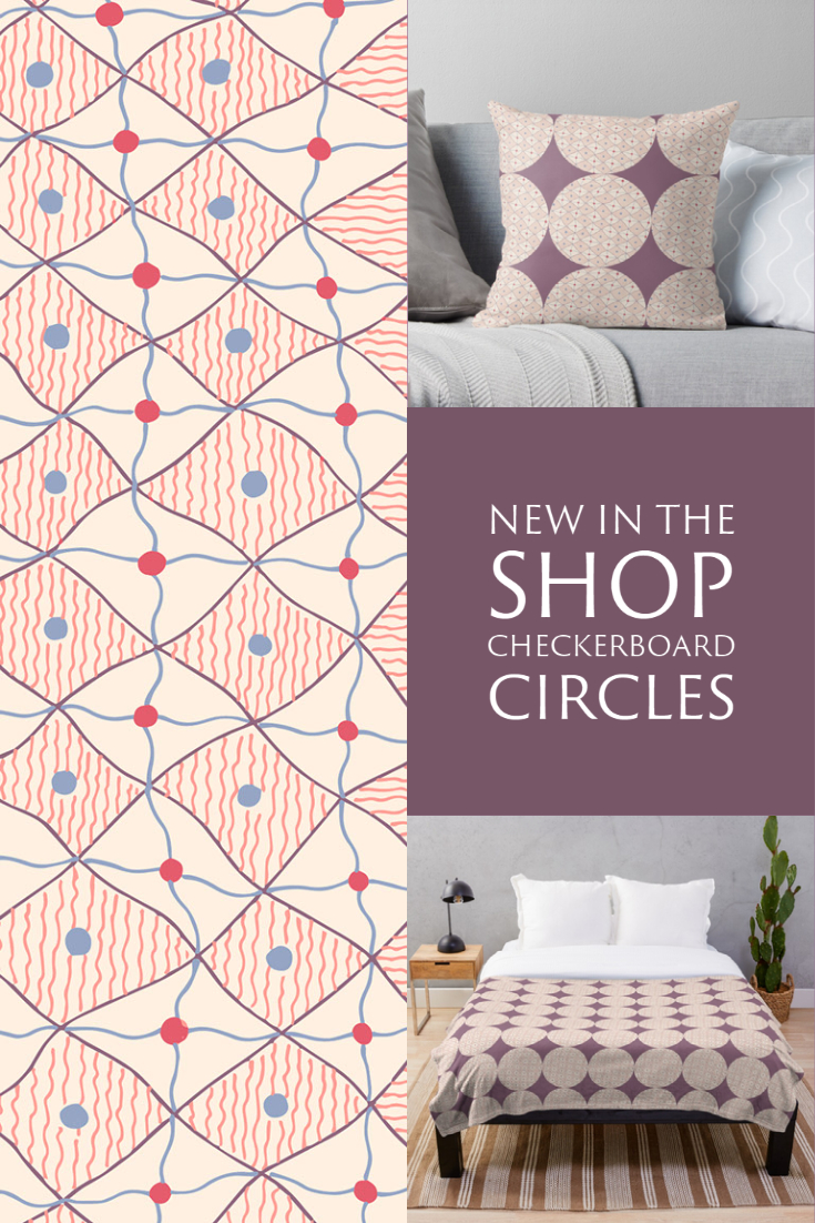 New in the Shop: Doodled Checkerboard Circles