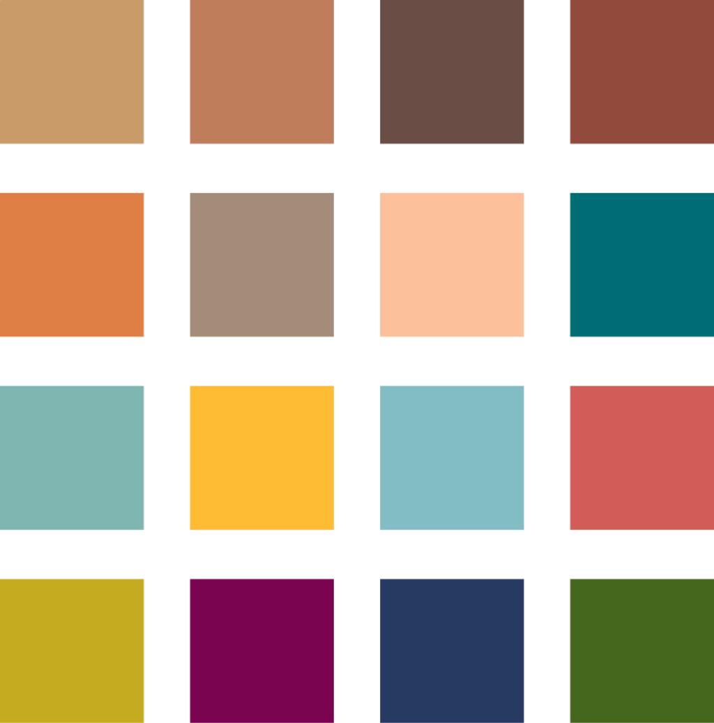 Boho Jungle color palette.