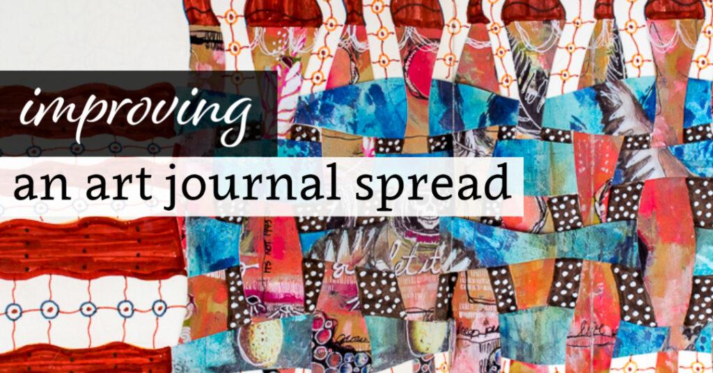 Improving an Art Journal Spread