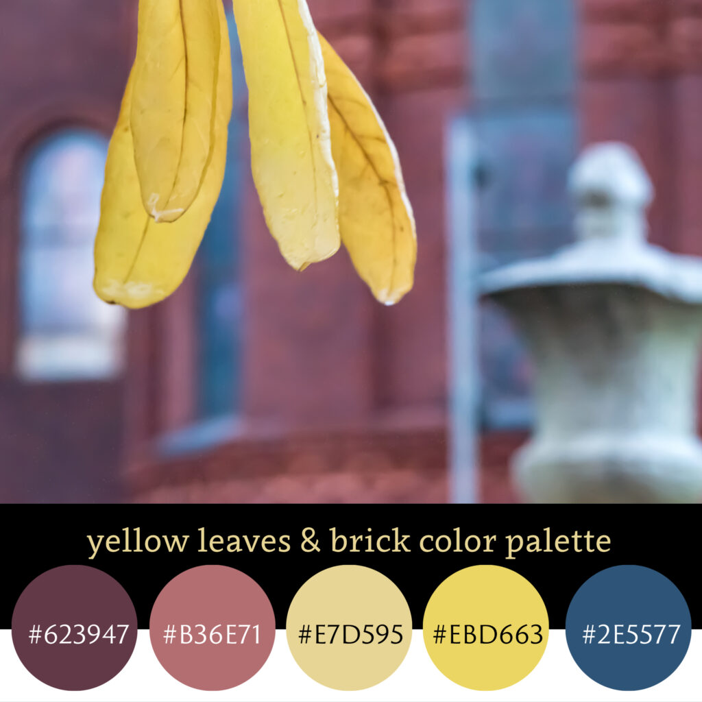 Yellow Leaves and Brick Color Palette