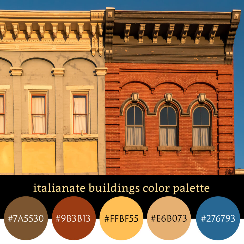 Italianate Buildings Color Palette