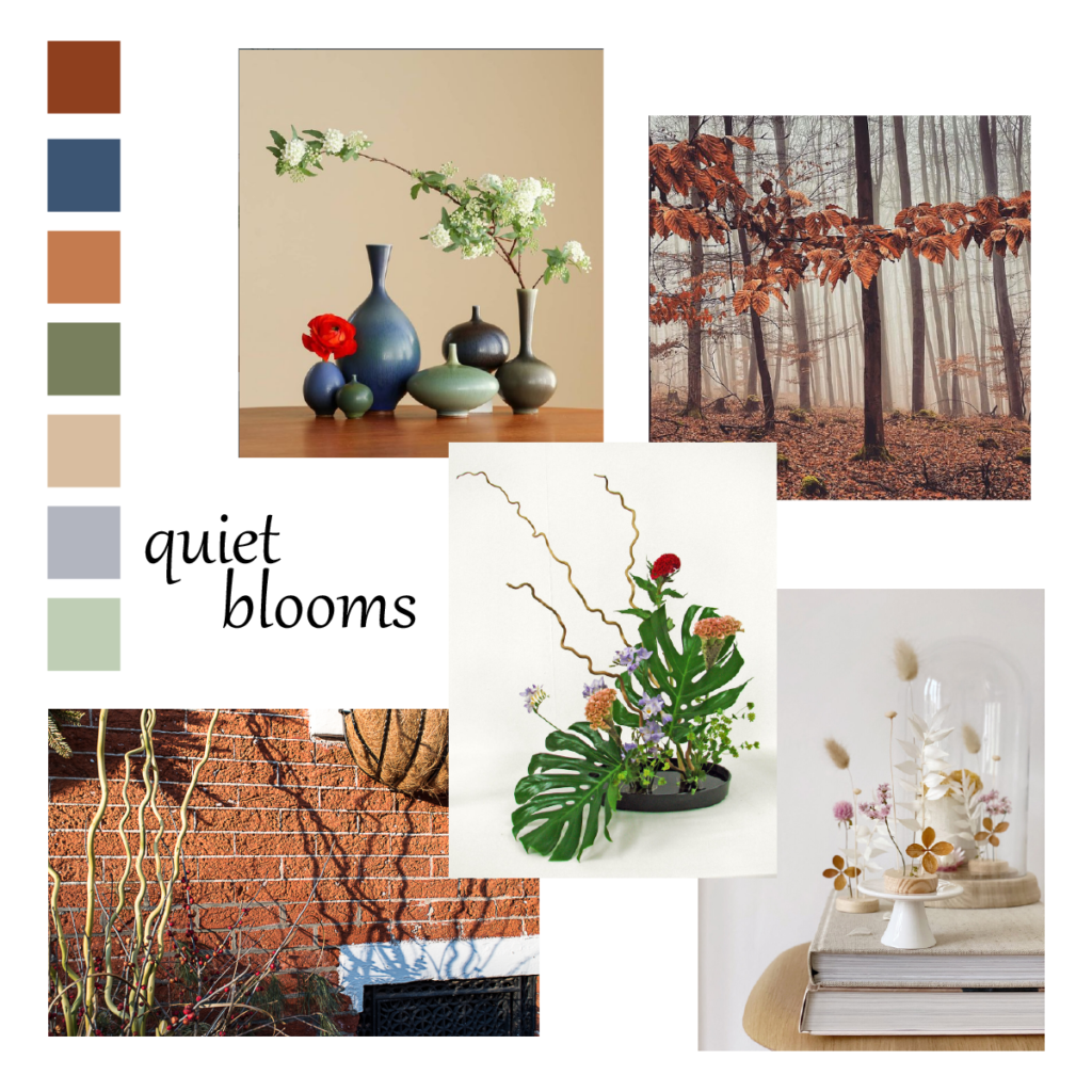 Quiet Blooms Mood Board