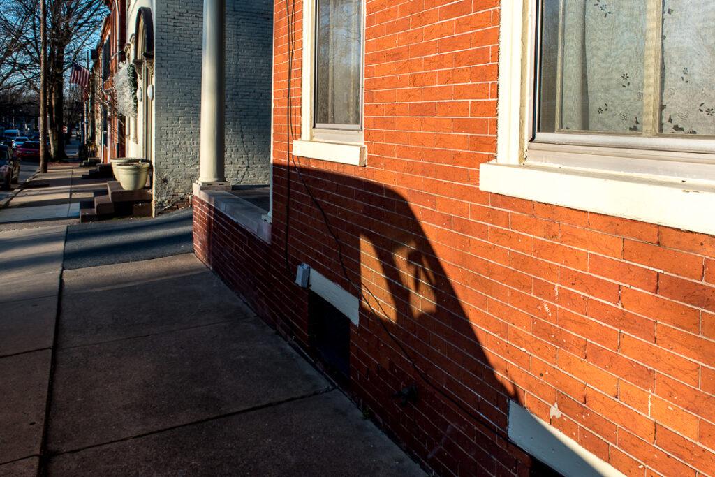 Photograph of a car shadow