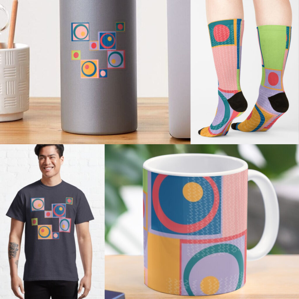 Products with Circles & Squares pattern.