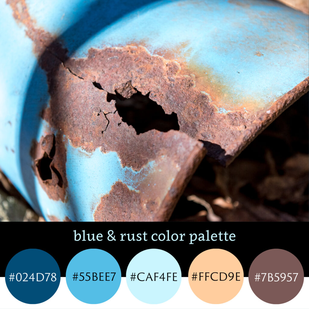 Blue & Rust Color Palette