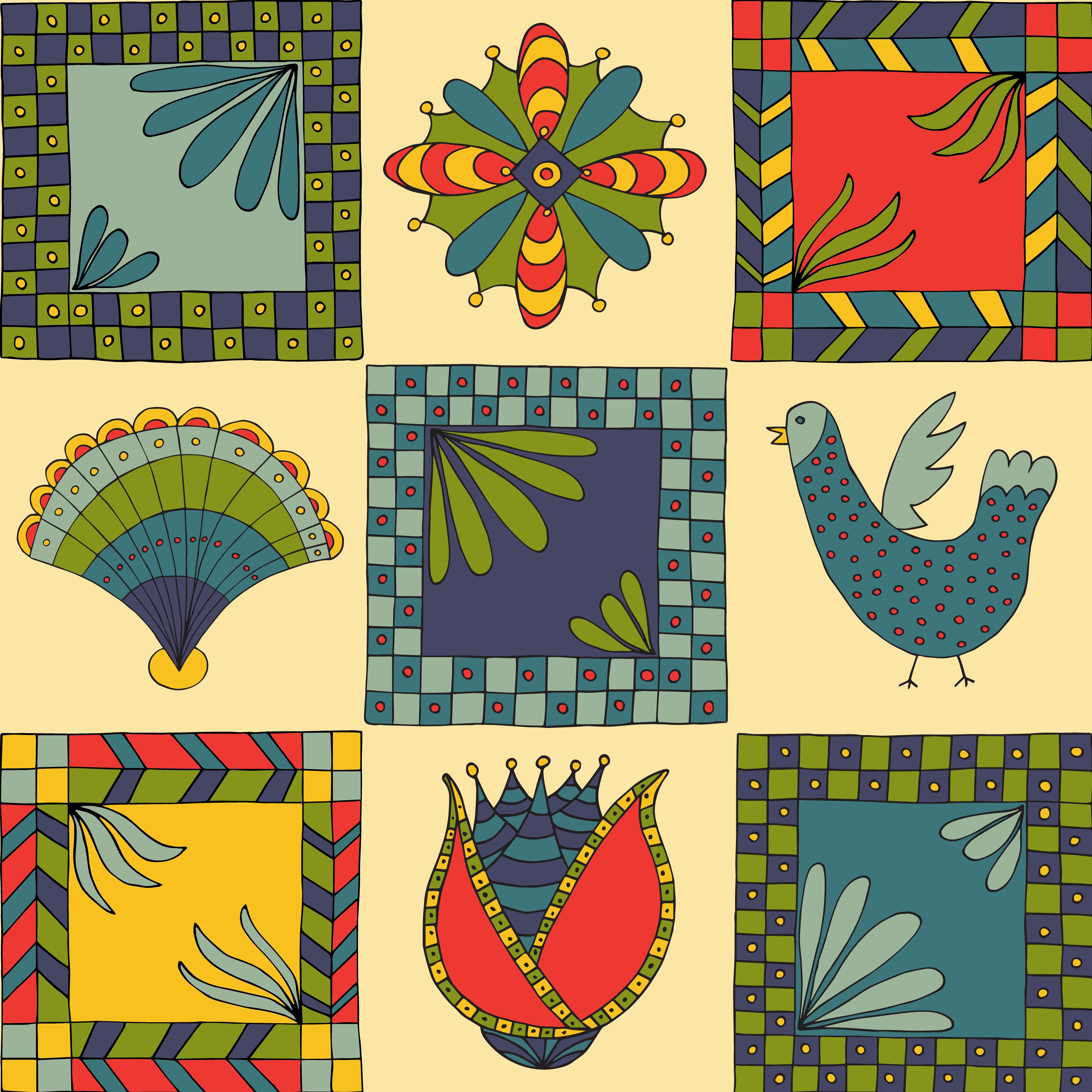 Folk Art Inspired Pattern