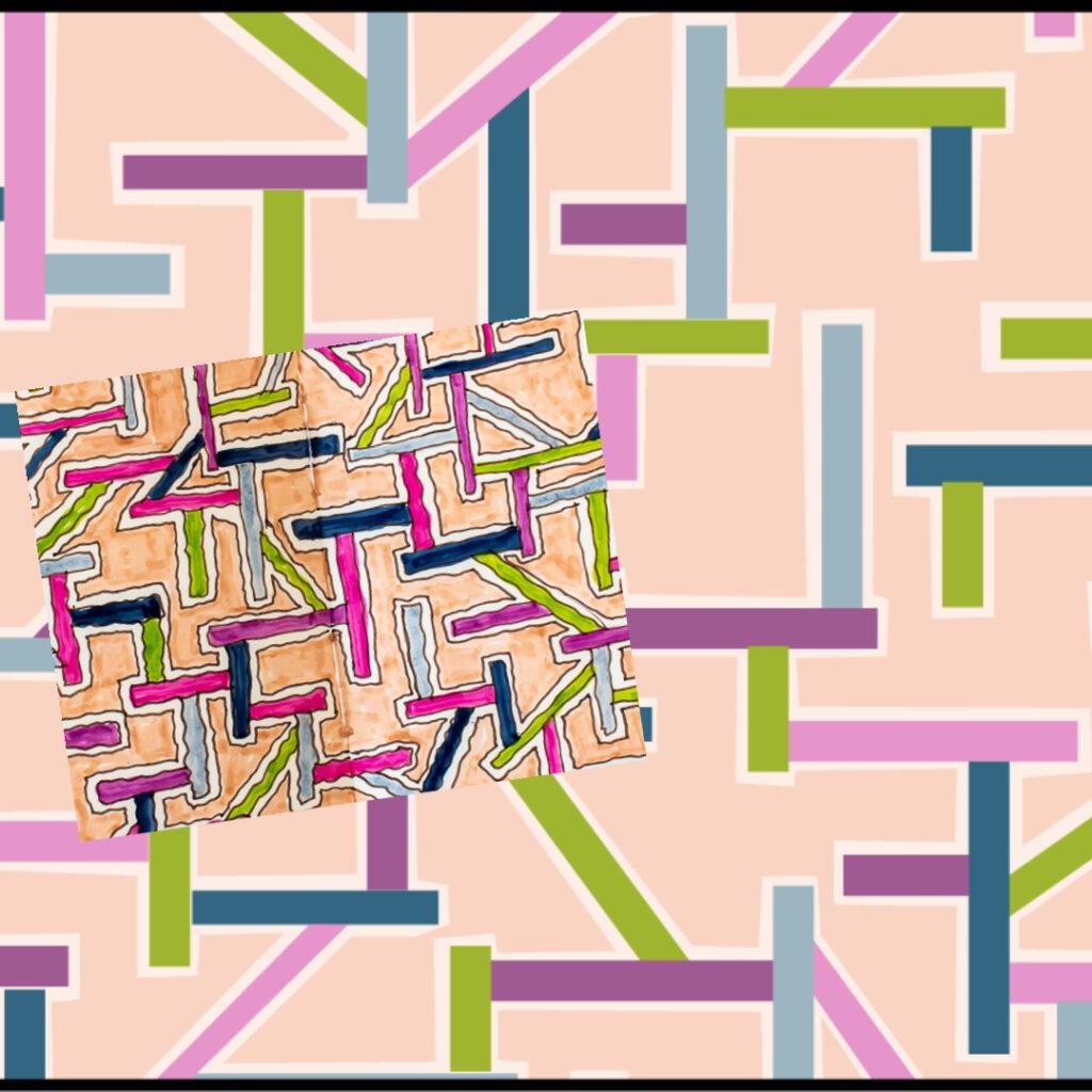 Rectangular paths pattern